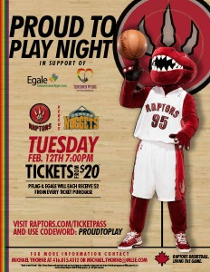Egale and Raptors Proud to Play Night