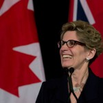 kathleen wynne flag smiling