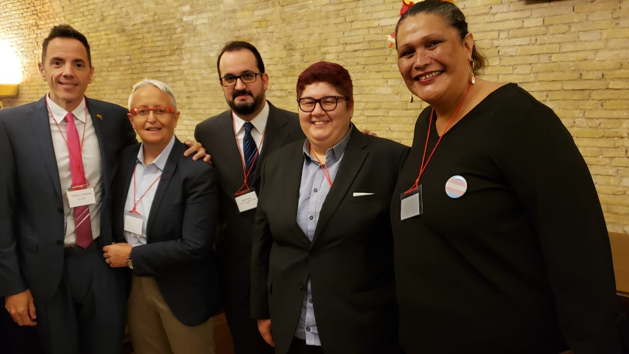 Helen Kennedy and LGBTI Activists at the Vatican
